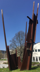 Iron sculpture Struktur by  Reinhard Scherer